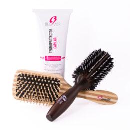 Kit de cepillos para el cabello más termoprotector capilar.